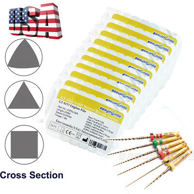 10X EASYINSMILE 25MM Endo Files Endodontic NITI Rotary Never Break Series 6x/kit