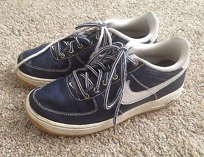 c0b9aab576cc9 NIKE Boys Youth Size 6Y Air Force 1 Athletic Blue White Sneakers Tennis  Shoes