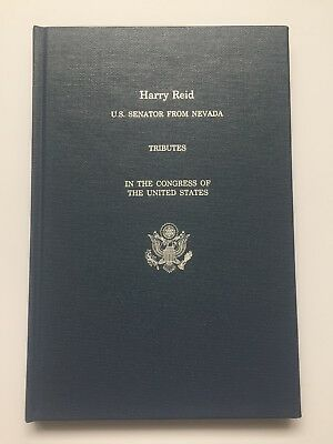 2017 Senator Harry Reid Tributes in the Congress of the US Hardcover Book Nevada