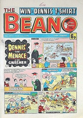 BEANO - 3rd MARCH 1979 (1st - 7th Mar) SUPERB 40th BIRTHDAY GIFT !! FINE..topper