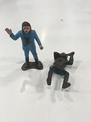2 Planet of the Apes Vintage 1960s 2 1/2 Inch Figures Made in Hong Kong