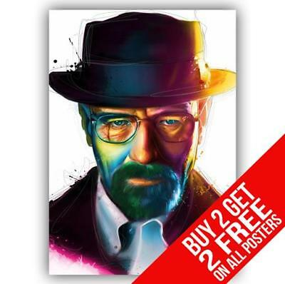 Breaking Bad Heisenberg Walter White Poster Print A4 A3 - Buy 2 Get Any 2 Free