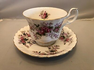 Royal Albert Bone China Lavender Rose Tea Cup And Saucer
