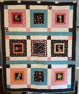"Handmade Quilt, Machine Quilted Blanket,Youth,50"" x 59 1/2"", Loralie Harris"