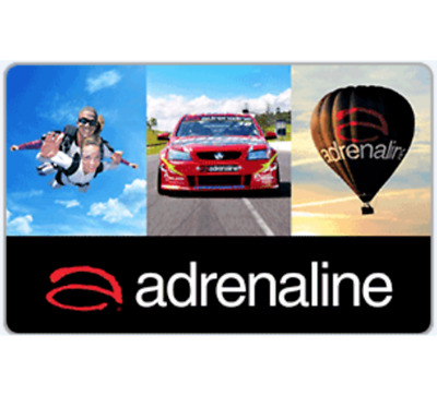20% off Adrenaline Gift Card $50 or $100  - Email Delivery
