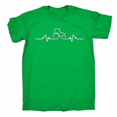 Tractor Pulse Heartbeat MENS T-SHIRT agriculture funny birthday gift present him