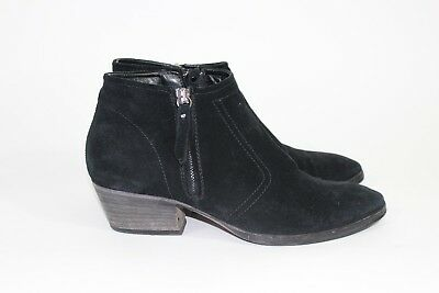 d20b16b1493 Aquatalia Booties By Marvin K Size 7.5 Black Suede MADE IN ITALY Double Zip   395