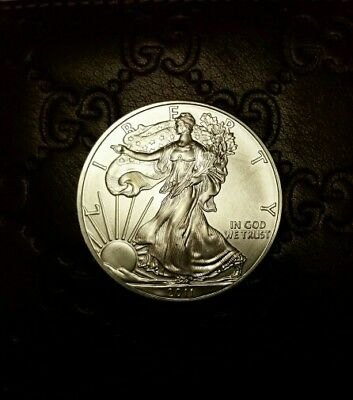 2011 One Oz American Silver Eagle Dollar .999 Brilliant Uncirculated BU Coin New