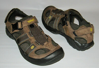 7e126c3c6090 New Teva Omnium Sandal Brown Leather Water Trail Hiking Shoes Sandals Mens 9