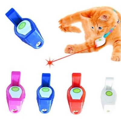 Pet Interactive Toys Collar Laser LED Light Pet Cat Play Toy Training To VLM