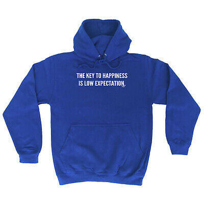 Funny Novelty Hoodie Hoody hooded Top - The Key To Happiness Is Low Expectation