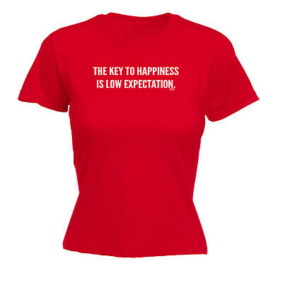 Funny Novelty Tops T-Shirt Womens tee TShirt - The Key To Happiness Is Low Expec