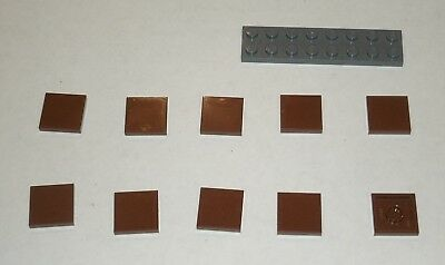 10x LEGO NEW 1x1 Reddish Brown Tile 4211288 Brick 3070