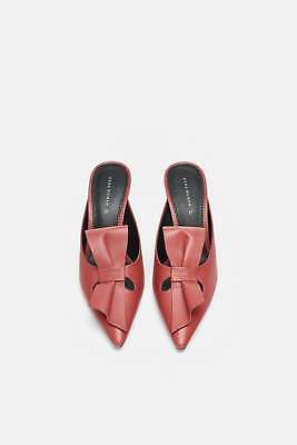 75b4cd28d8c ZARA VINYL MULES With Methacrylate Clear Heel Fuchsia Sz 6 New ...
