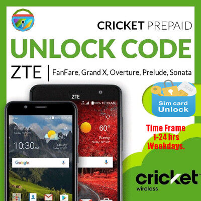 Unlock Code ZTE Overture 3 Z851M Cricket Wireless AT&T BestBuy Walmart Amazon