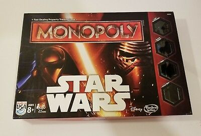 Hasbro Disney MONOPOLY STAR WARS Special Edition Family Board Game in Box