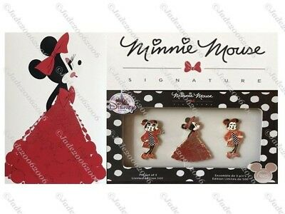 D23 Expo 2017 Minnie Mouse Signature Pin Set of 3 LE 500!