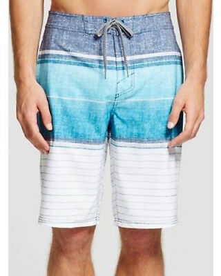 6a95ed31ed Mossimo Supply Men's Big & Tall Board Shorts Blue Russel Striped, Size 56