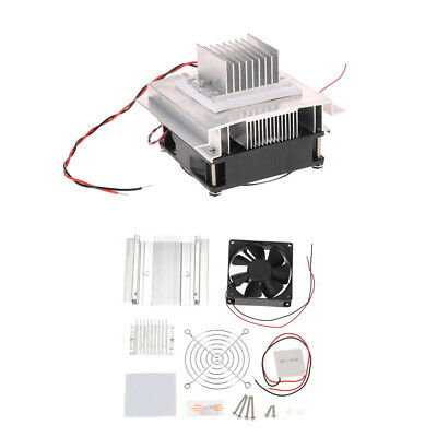 DIY Thermoelectric Peltier Refrigeration Cooling System Kit With Cooler Fan N6Q8