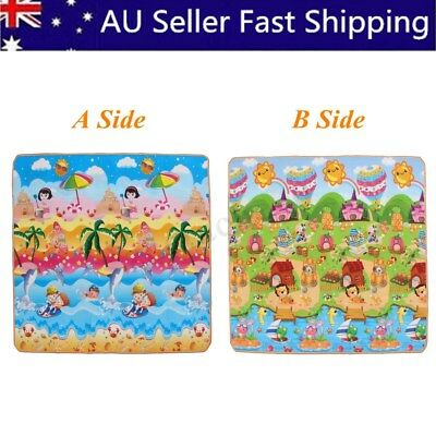 10mm 2mx1.8m Thick XL Baby Kids Play Mat Floor Rug Picnic Cushion Crawling Mat