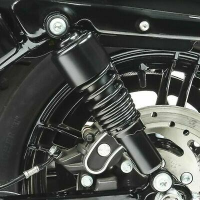 Pair Black 10.5'' 267mm Rear Air Shock Absorber Round Type For Harley Davidson
