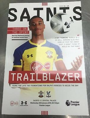 Saints V Crystal Palace  2019 *OFFICIAL PROGRAMME*