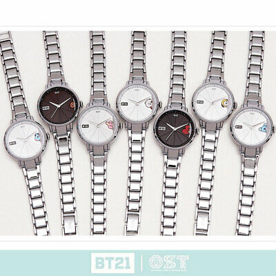 BTS BT21 Official Authentic Goods Silver Metal Watch Ver.2 by OST 7Characters