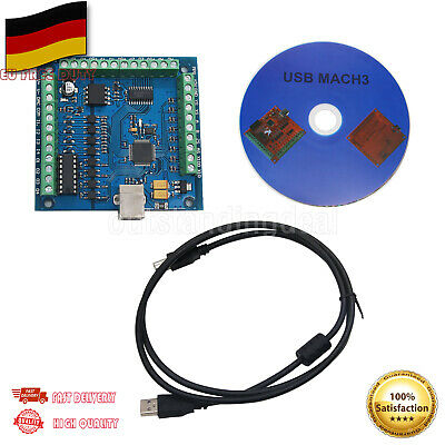 MACH3 4-Axis 100KHz USB CNC Controller Card Smooth Stepper Motion Control DE SHI