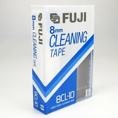Fuji 8CL-10 Head Cleaning Tape for Video 8 / 8mm Video Camera's - Factory Sealed