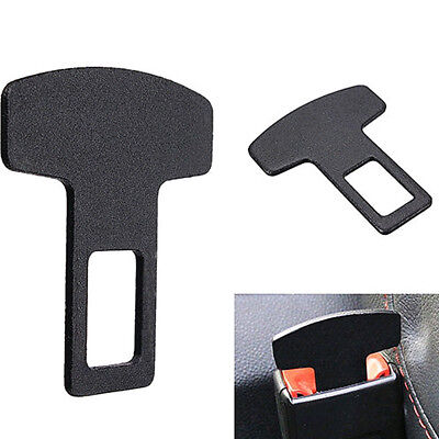 1PCS Car Accessories Safety Seat Belt Buckle Alarm Stopper Eliminator Clip Black