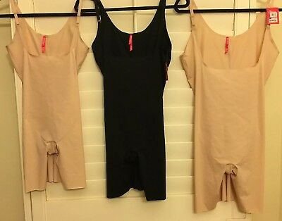 NEW SPANX TRUST YOUR THINSTINCTS MID THIGH OPEN BUST BODYSUITS: 10021R or 10021P