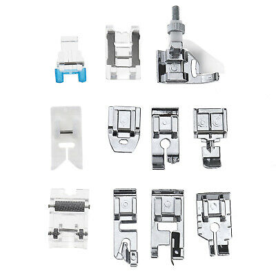 Domestic Sewing Machine Foot Presser Rolled Hem Feet Set for Brother Singer 11x