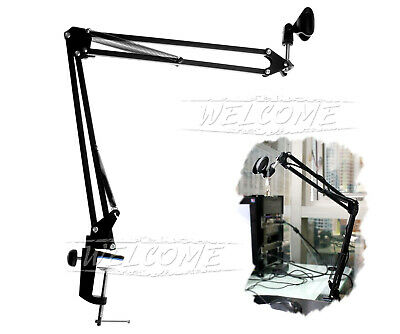 Foldable 360 Degree Suspension Boom Arm Mic Stand Holder for Studio Broadcast