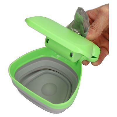 Easy Pick-Up Portable Waste Scooper for Dogs and 1 Roll of Poo Bags
