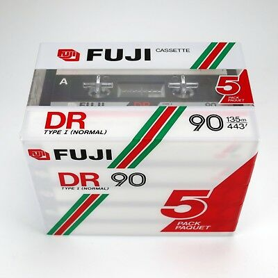5 x Fuji DR 90 (1985-1987) Normal Position - New Old Stock - Factory Sealed