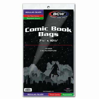 Resealable Silver Regular Comic Bags - Thick - 1000