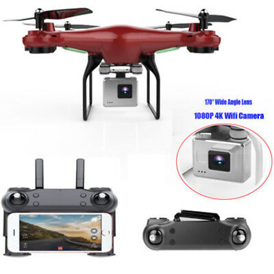 170° Wide Angle Lens 4K WiFi FPV 1080P Camera RC Quadcopter Helicopter Drone .
