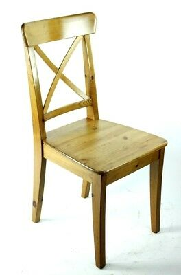 Vintage Cross Back Solid Beech Chair - FREE Shipping [PL4864]