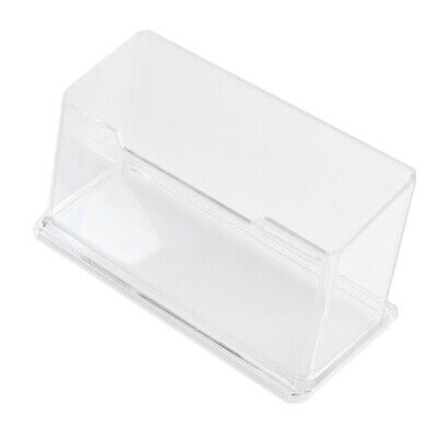 New Clear Desktop Business Card Holder Display Stand Acrylic Plastic Desk S N7A8