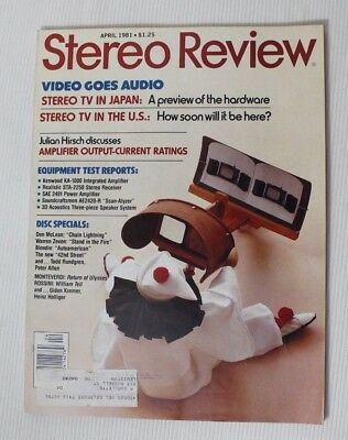 STEREO REVIEW MAGAZINE Apr 1992 PS Audio 5 6, Lexicon CP-3