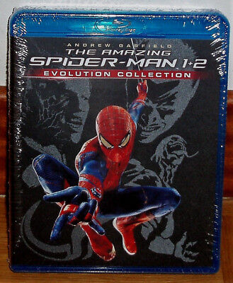 The Amazing Spider-Man 1-2 Collection 2 Blu-Ray New Aventuras (Unopened)R2