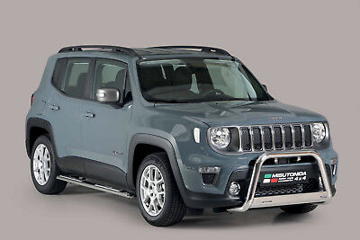PARE BUFFLE JEEP RENEGADE 2018-prés HOMOLOGUE INOX DIAMETRE 63