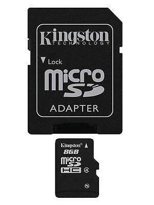 Kingston 8GB Micro SD SDHC Memory Card For Phone Tablet Camera