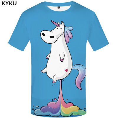 Unicorn t shirt Unicorn Rainbow Flying Cute Funny Unisex T-shirt High Quality