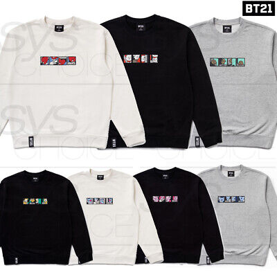 BTS BT21 Official Authentic Goods Sweat Shirt by Line Friends 7Characters