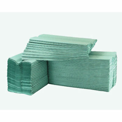 C Fold 1 Ply Paper Hand Towels (Green) | 15 Bundles | 2640 Towels Bulk Buy