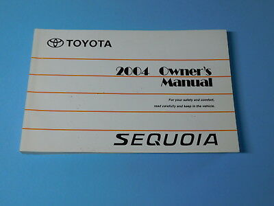 2004 toyota sequoia owners manual