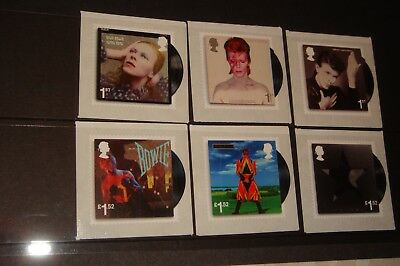 DAVID BOWIE Royal Mail pack of six mint stamps, different designs