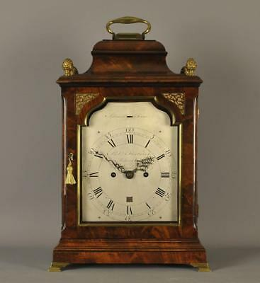 FINE VERGE MAHOGANY BRACKET CLOCK -Robert Fleetwood , London