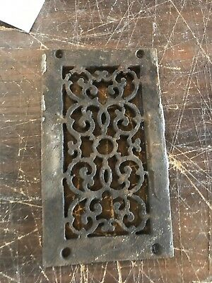 Rl Eight Antique Cast-Iron Heating Grate Face 4 7/8 X 8.25